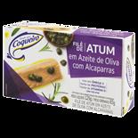 FILÉ DE ATUM EM AZEITE DE OLIVA COM ALCAPARRAS COQUEIRO CAIXA 83G