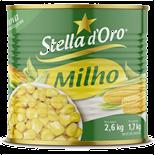 MILHO VERDE EM CONSERVA STELLA D'ORO LATA PESO LÍQUIDO 2,6KG PESO DRENADO 1,7KG