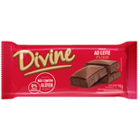 BARRA CHOCOLATE AO LEITE DIVINE DP 14 X 90G